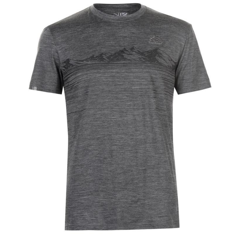 Tričko Karrimor Merino T Shirt Mens Blue Marl