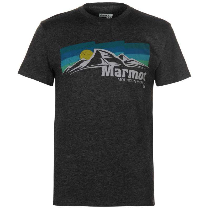 Tričko Marmot Sunsettter T Shirt Mens Grey