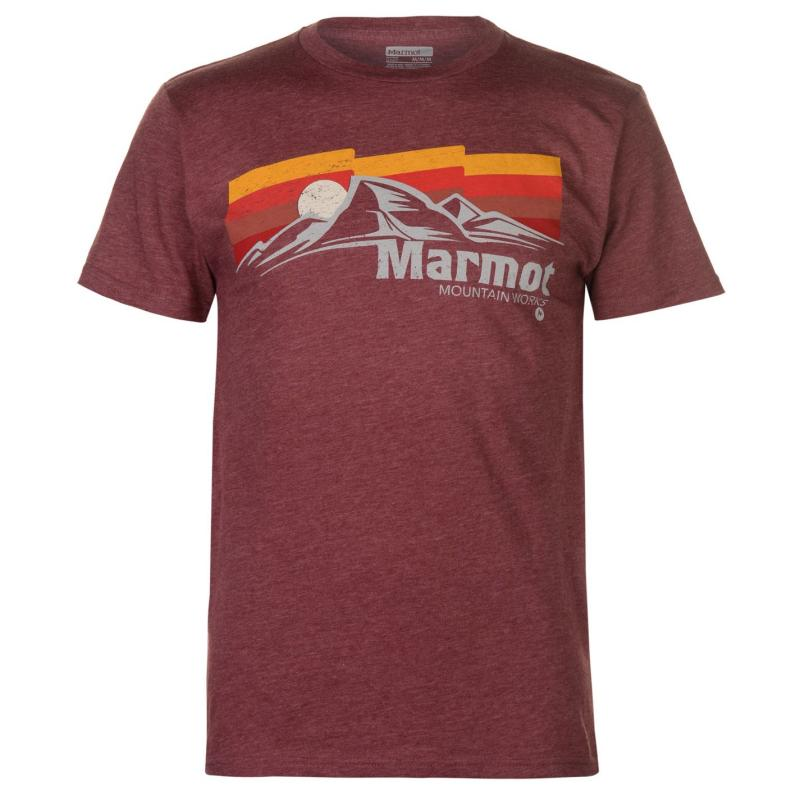 Marmot Sunsettter T Shirt Mens Red