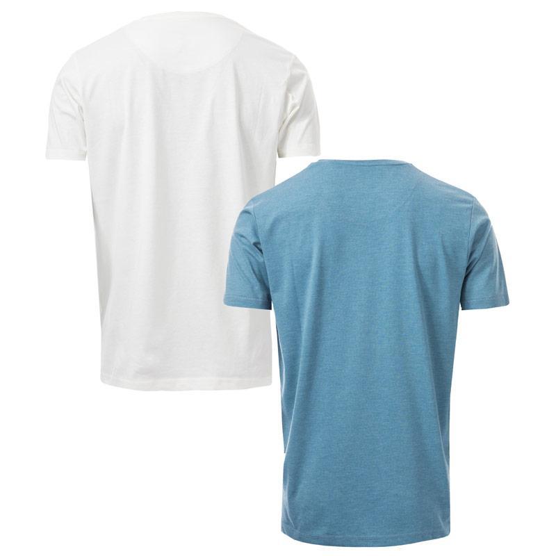 Tričko Ringspun Mens Alpha Eagle 2 Pack T-Shirts White blue