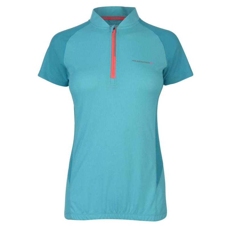 Muddyfox Cycling Short Sleeve Jersey Ladies Turquoise