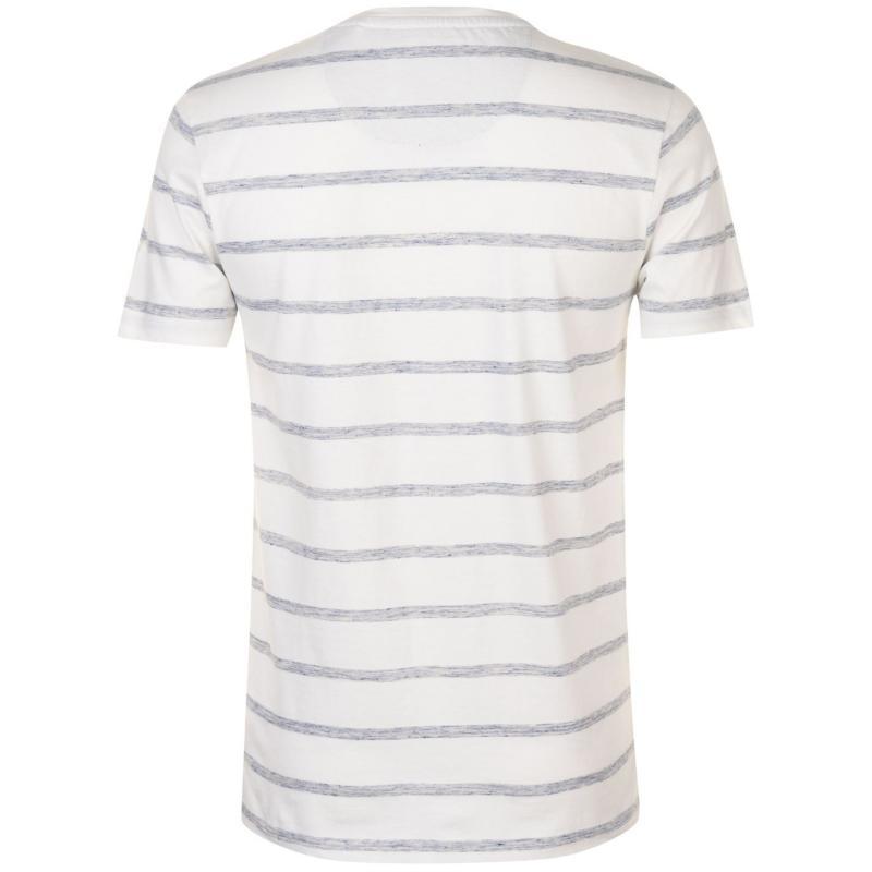 Tričko SoulCal Grandad T Shirt Mens Wt/NvyStr
