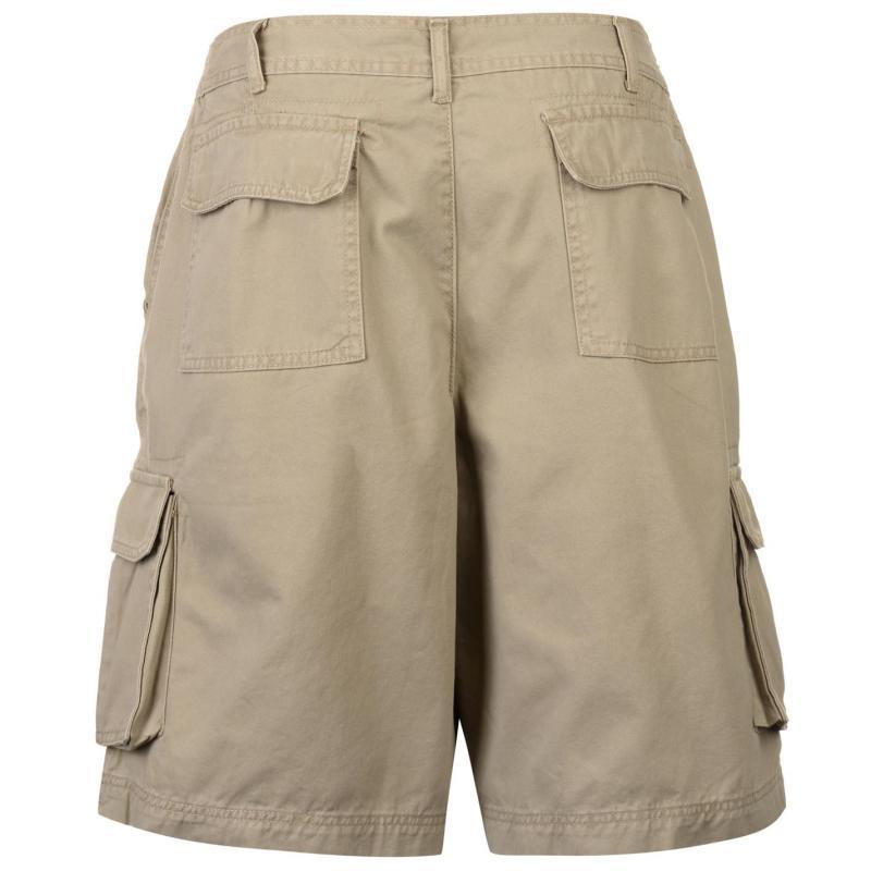 Full Blue Cargo Shorts Mens Khaki