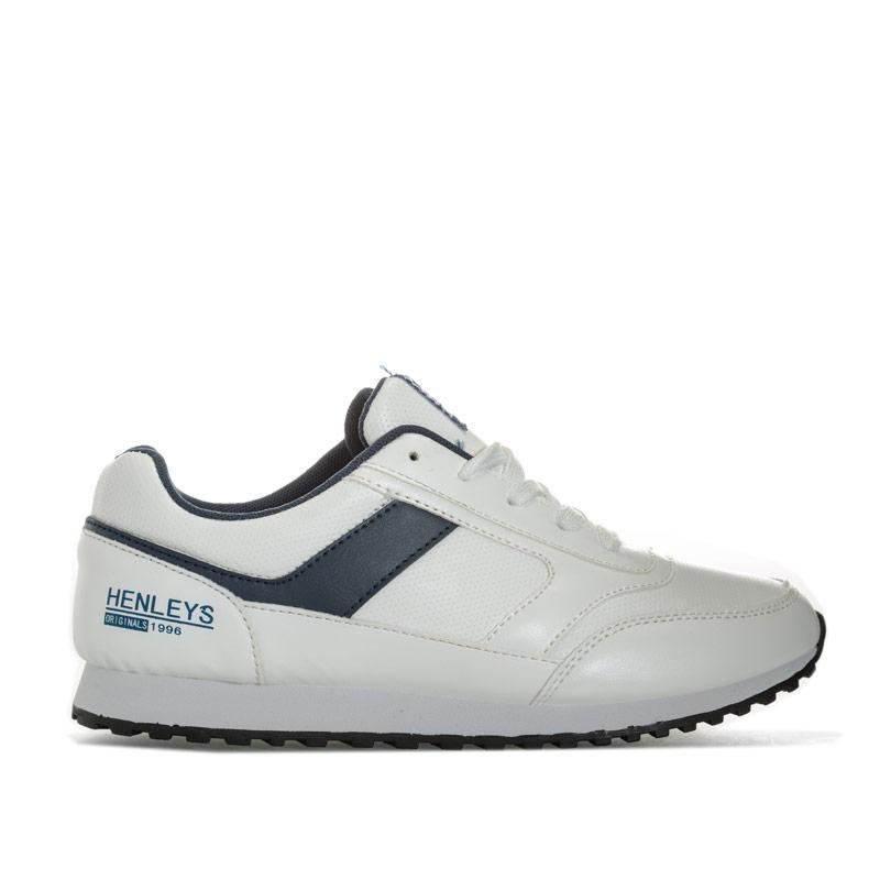 779e0fa3e0c Boty Henleys Childrens Hepburn Runner Trainer White