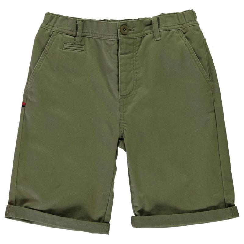 Tričko Kangol Chino Shorts Junior Boys Dark Sand