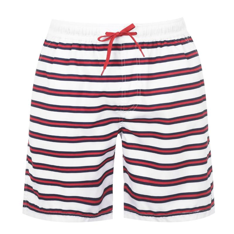 Plavky Kangol Swim Shorts Mens Stripe Red