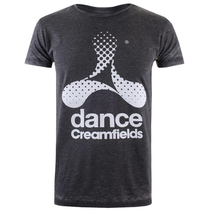 Tričko Get The Label Mens Cream Dance Burnout T-Shirt Burgundy