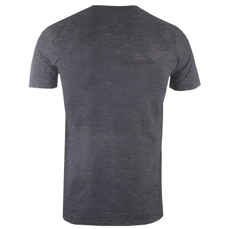 Tričko Get The Label Mens Cream Dance Burnout T-Shirt Charcoal