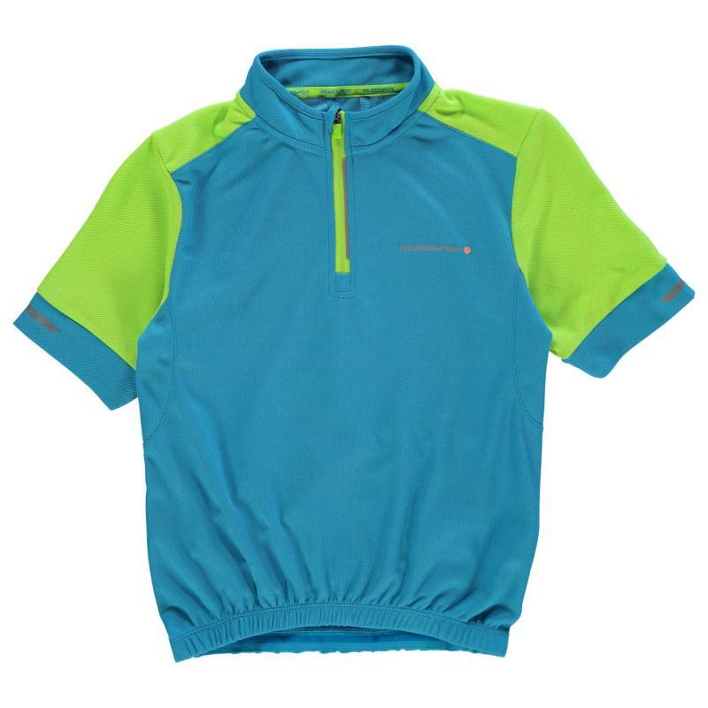 Tričko Muddyfox Short Sleeved Cycling Jersey Junior Blue/Green