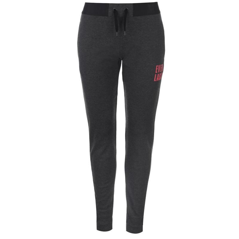 Sportovní kalhoty Everlast Closed Hem Interlocked Jogging Pants Ladies Charcoal
