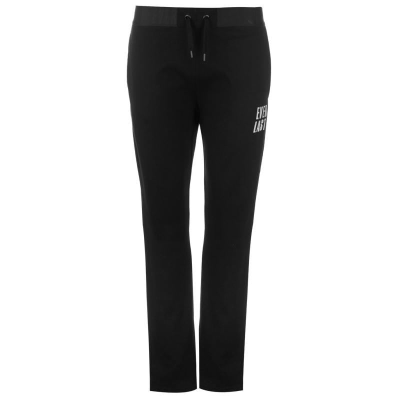 Sportovní kalhoty Everlast Open Hem Interlocked Jogging Pants Ladies Black