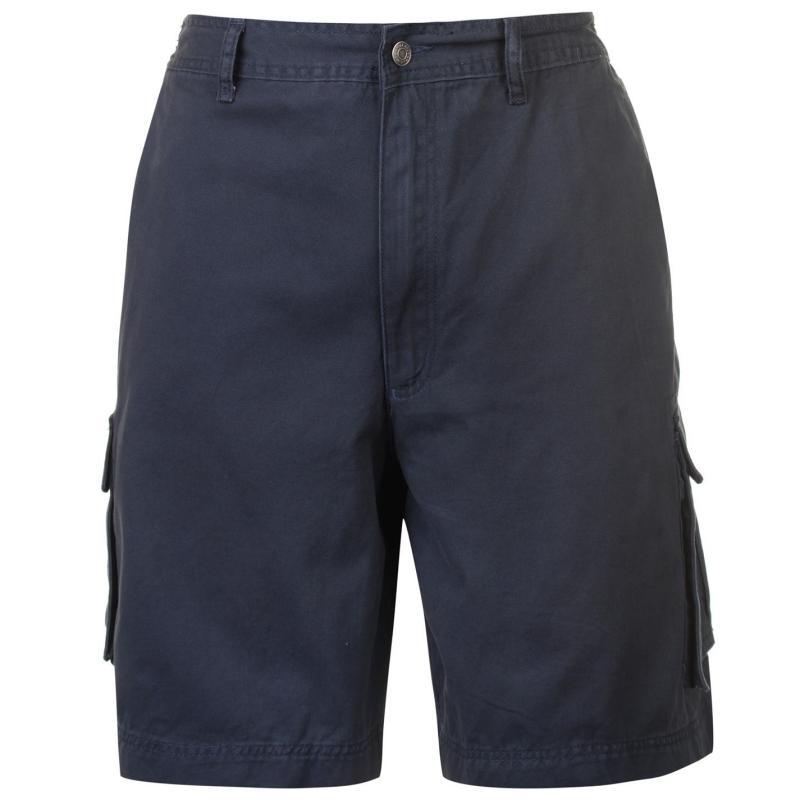Full Blue Cargo Shorts Mens Grey