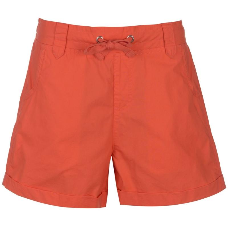 Full Circle Poplin Shorts Ladies Fiery Coral