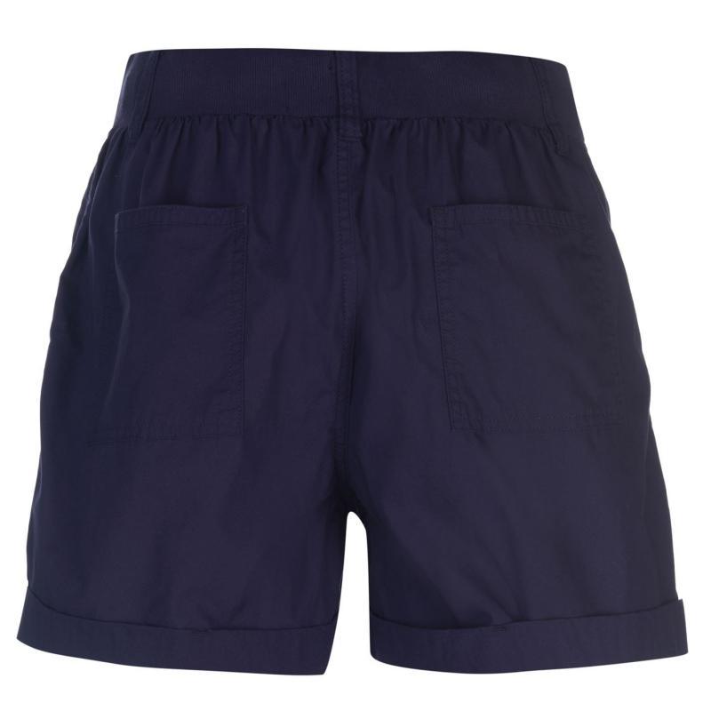 Full Circle Poplin Shorts Ladies Dark Khaki