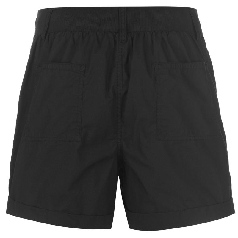 Full Circle Poplin Shorts Ladies Black
