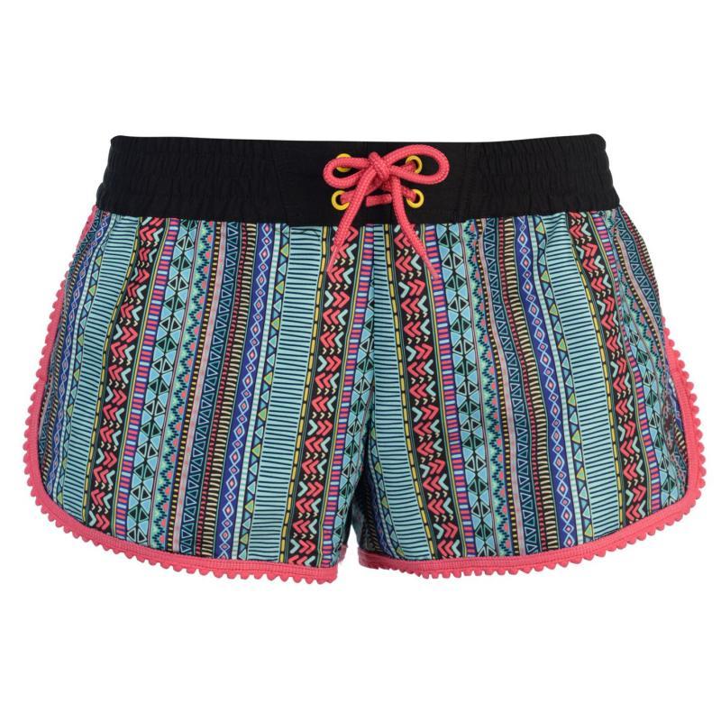Hot Tuna Caribbean Shorts Ladies Black Multi