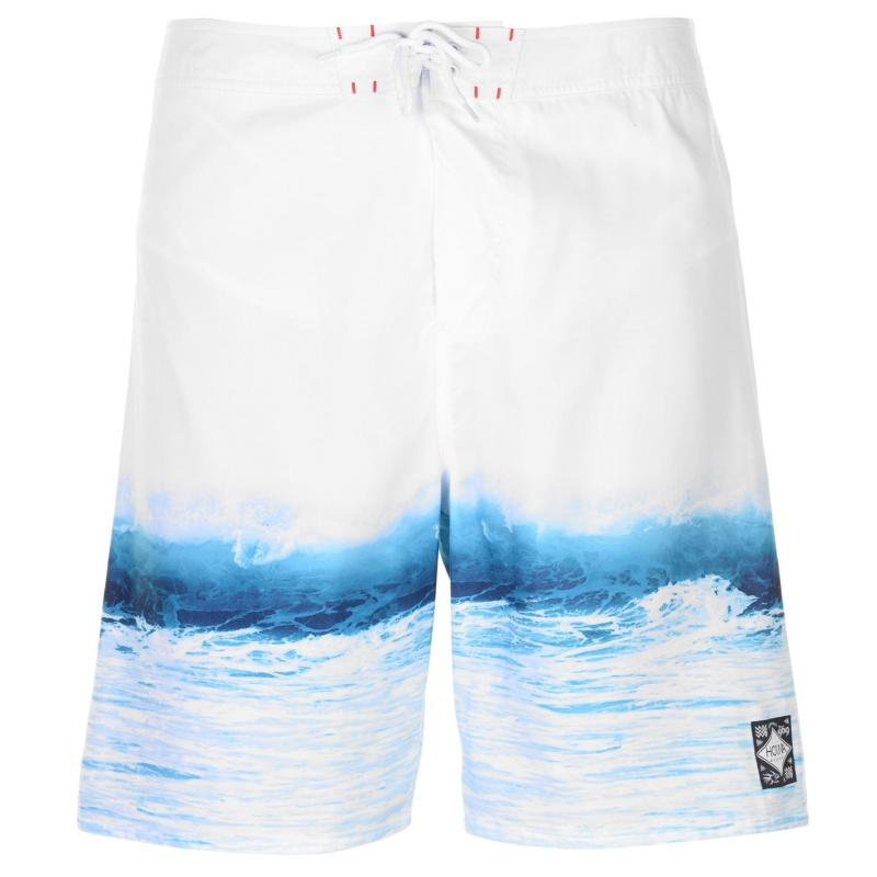 Plavky Hot Tuna Photo Board Shorts Mens White Wave