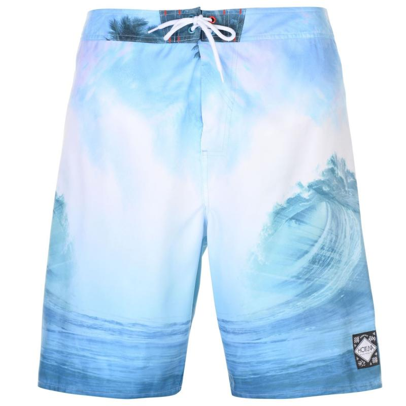 Hot Tuna Photo Board Shorts Mens White Wave