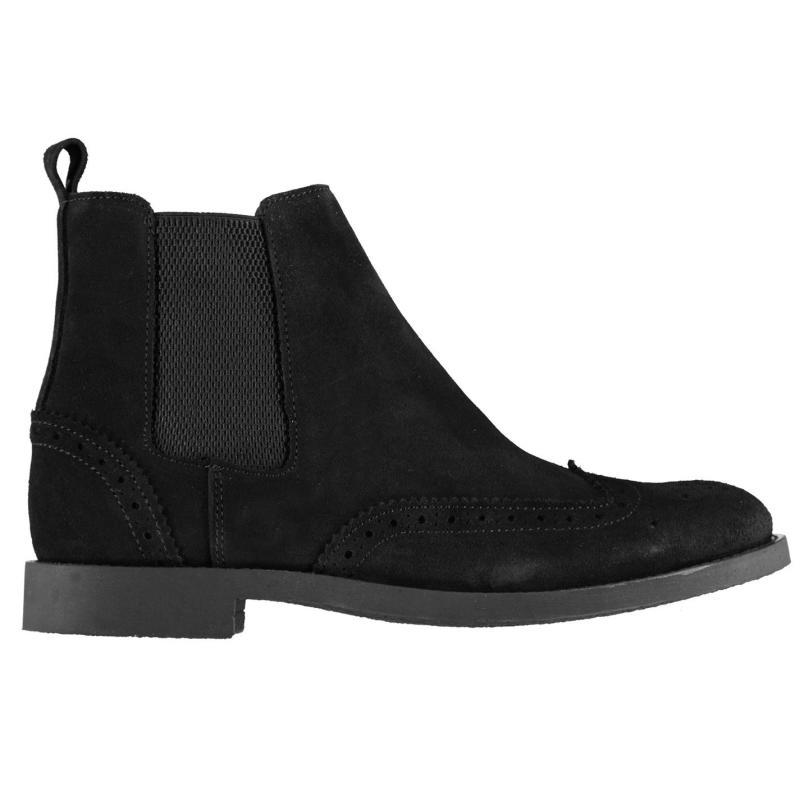 Boty Firetrap Deering Boots Mens Black/Black