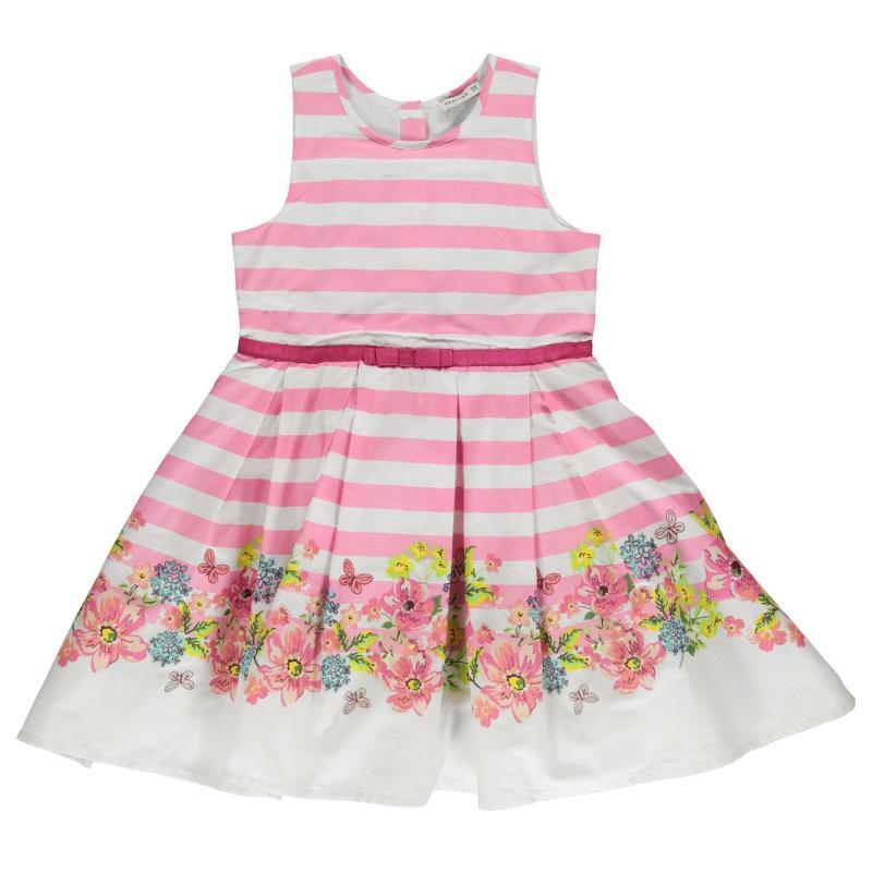 Šaty Crafted Border Dress Infant Girls Stripe Border