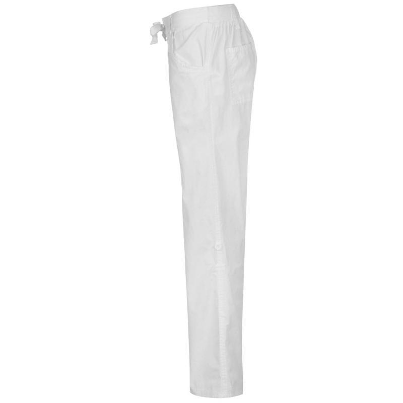 Full Circle Poplin Jogging Pants Ladies White