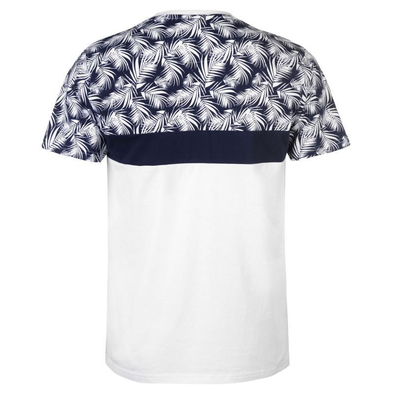 Tričko Pierre Cardin Cut Sew Palm Tee Mens Navy