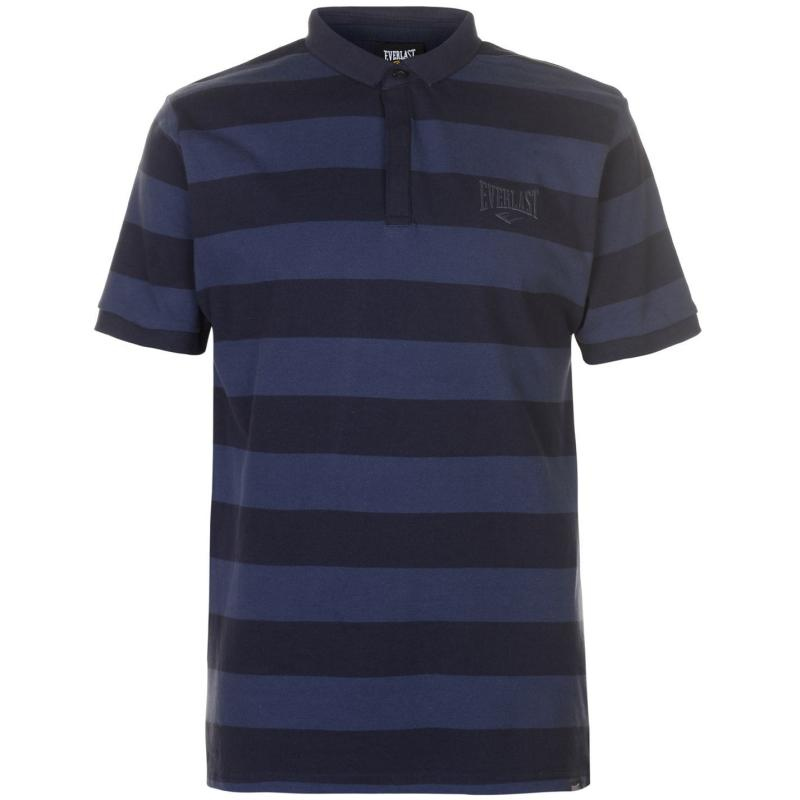 Everlast Stripe Polo Shirt Mens Navy