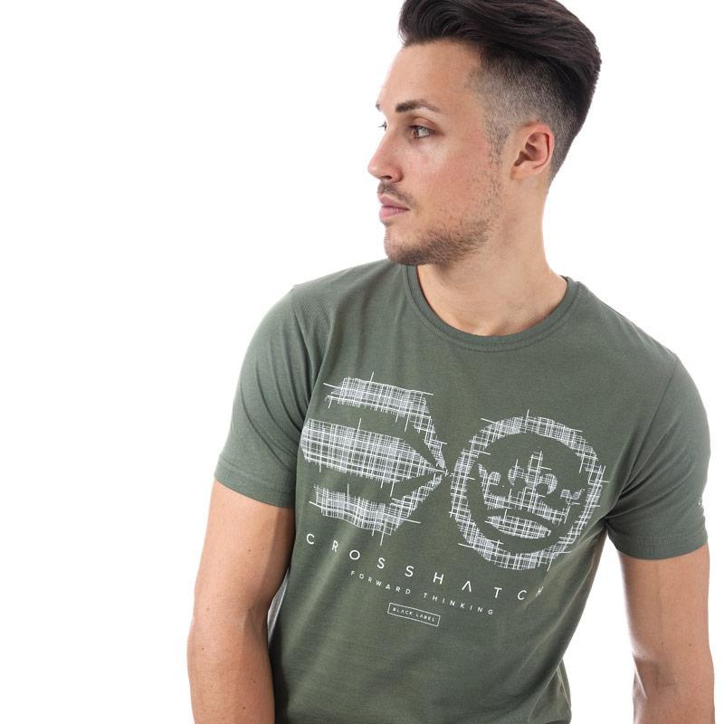 Tričko Crosshatch Mens Crozhatch T-Shirt Khaki