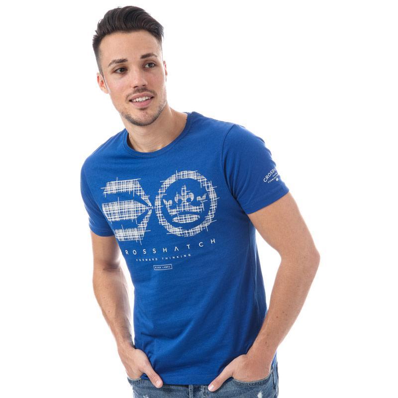 Tričko Crosshatch Mens Crozhatch T-Shirt Blue