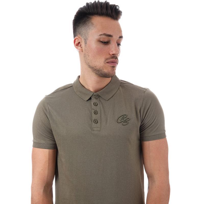 Crosshatch Black Label Mens Splendor Polo Shirt Khaki