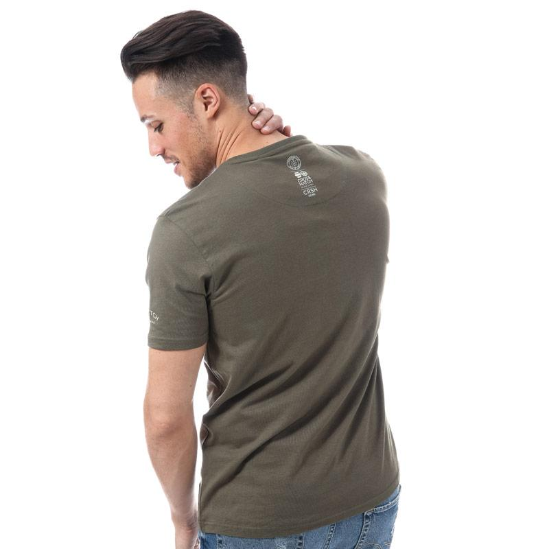 Tričko Crosshatch Mens Watkins T-Shirt Khaki