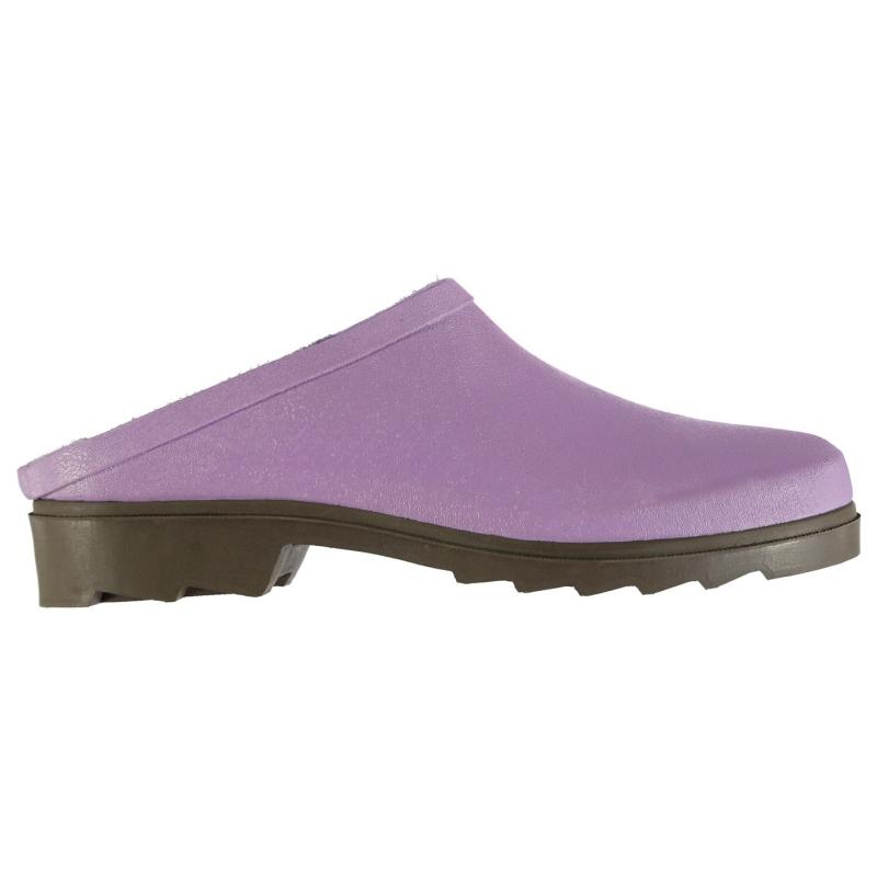 Boty Briers Ladies Rubber Clogs Green