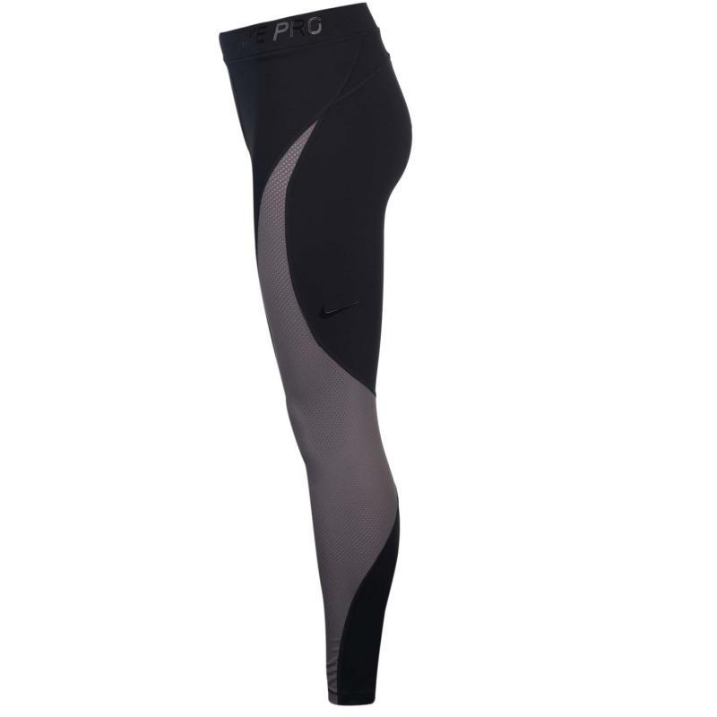 Legíny Nike Hypercool Tights Ladies Black/Grey