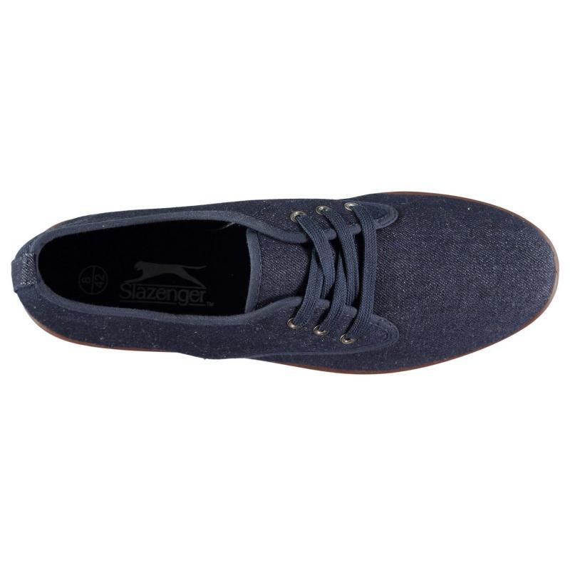 Slazenger Kung Fu Lace Mens Canvas Shoes Denim