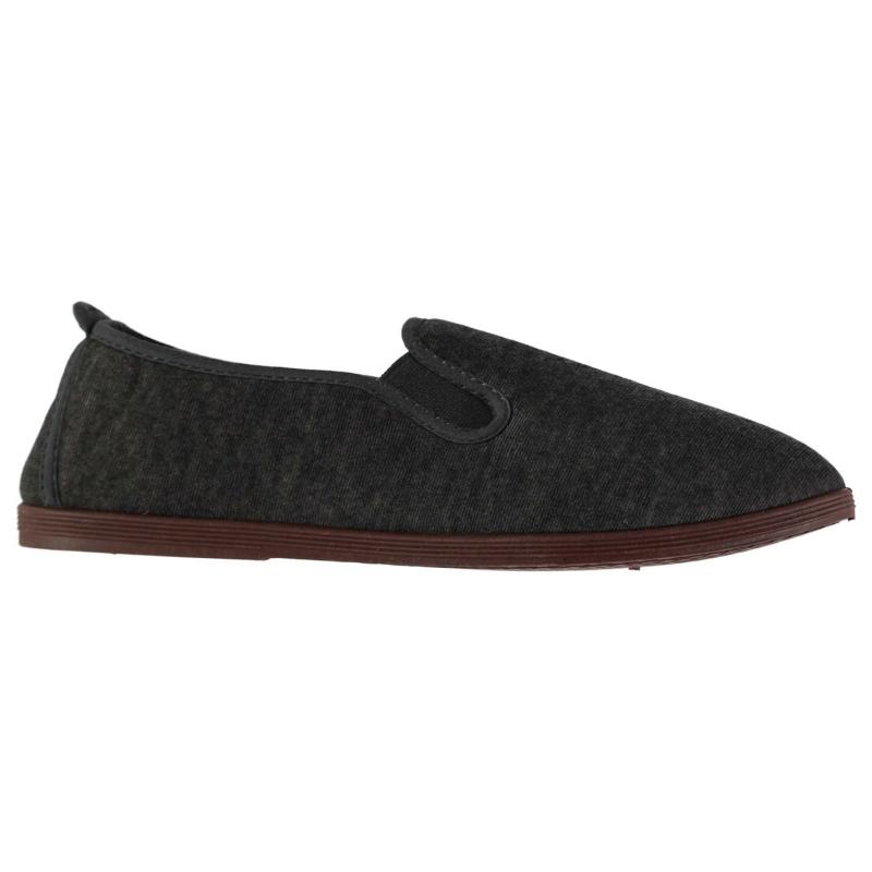 Slazenger Kung Fu Mens Canvas Shoes Black