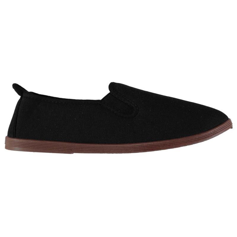 Boty Slazenger Kung Fu Mens Canvas Shoes Black