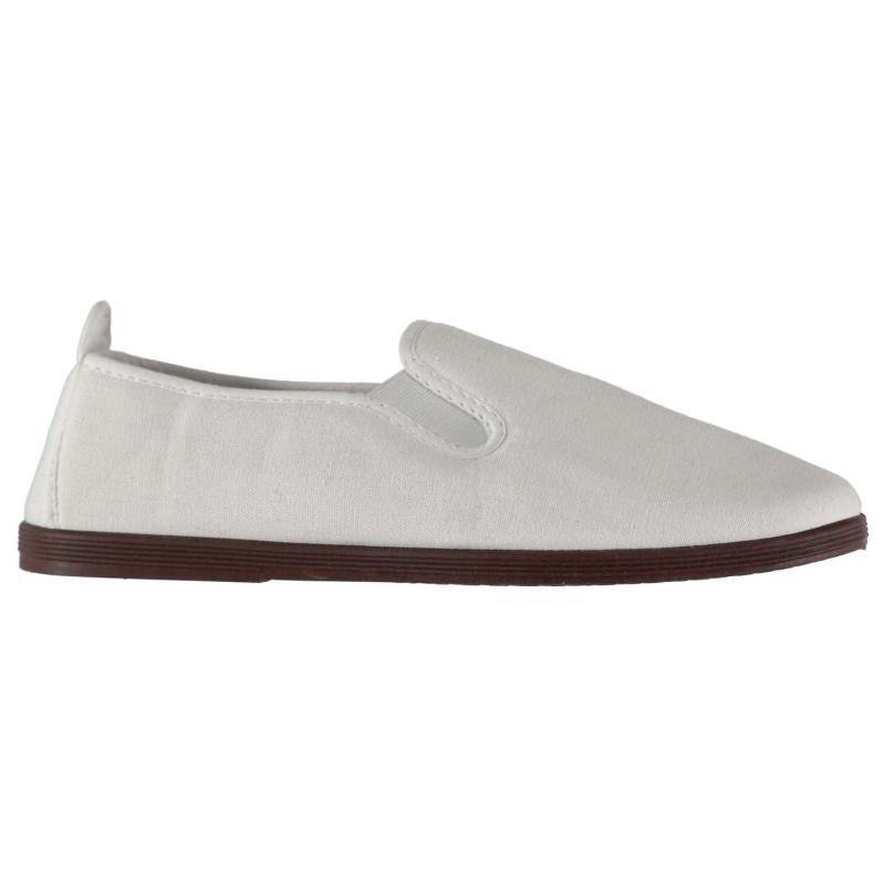 Slazenger Kung Fu Mens Canvas Shoes White