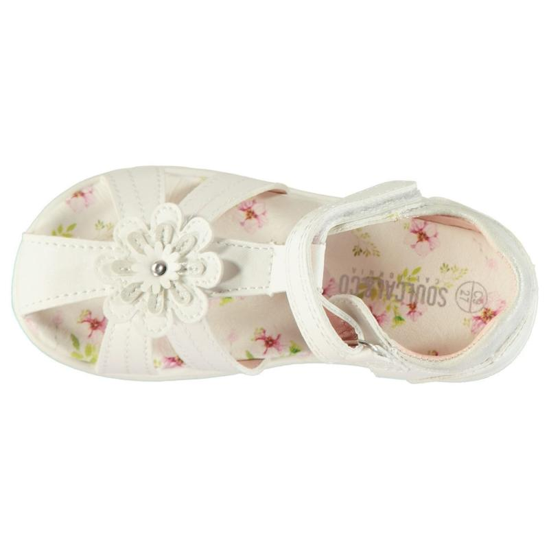 SoulCal Cage Sandals Infant Girls White