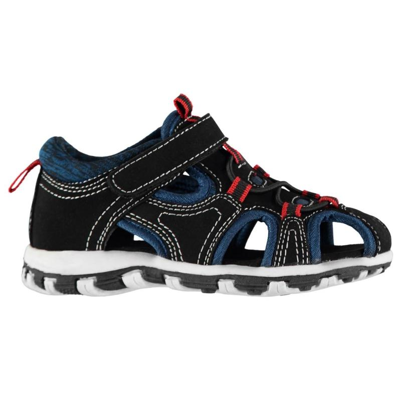 Boty SoulCal Cage Trek Sandals Infant Boys Navy/Yellow