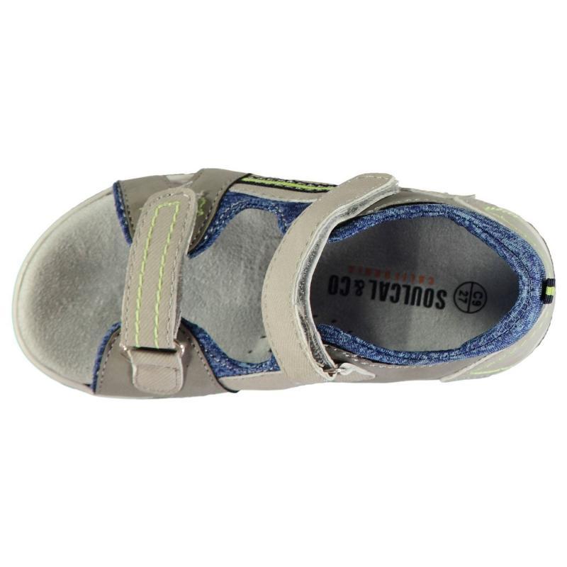 Boty SoulCal Two Stripe Trek Sandals Infant Boys Grey