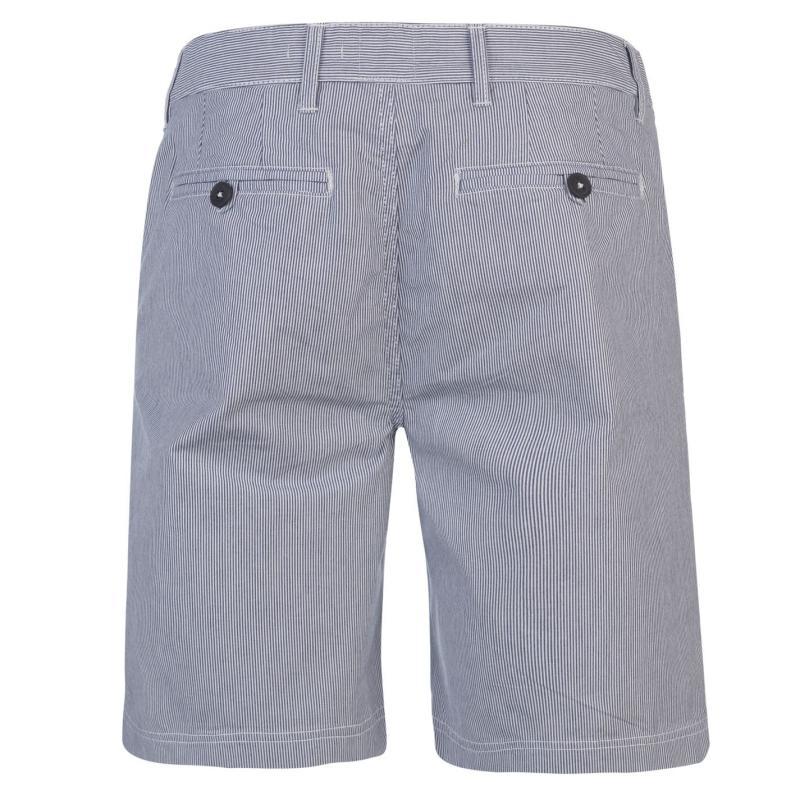 Kalhoty Soviet Stripe Shorts White/Navy