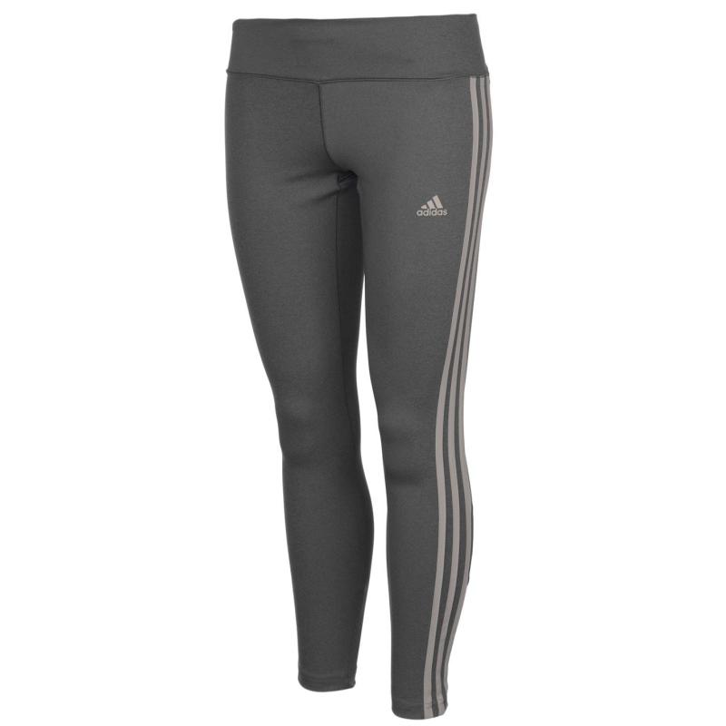 Adidas 3 Stripe Tights Ladies Grey/White