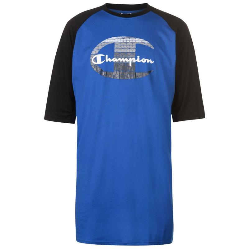 Tričko Champion Raglan Sleeve T Shirt Mens Royal