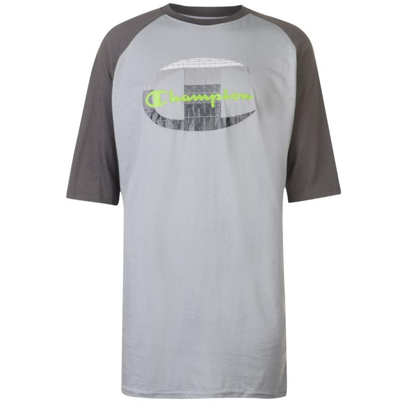 Tričko Champion Raglan Sleeve T Shirt Mens Grey