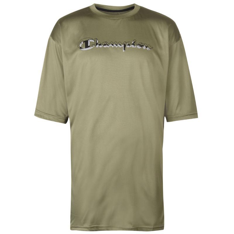 Tričko Champion Side Panel T Shirt Mens Green/Black