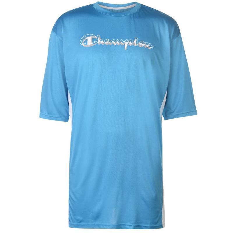 Tričko Champion Side Panel T Shirt Mens Turq