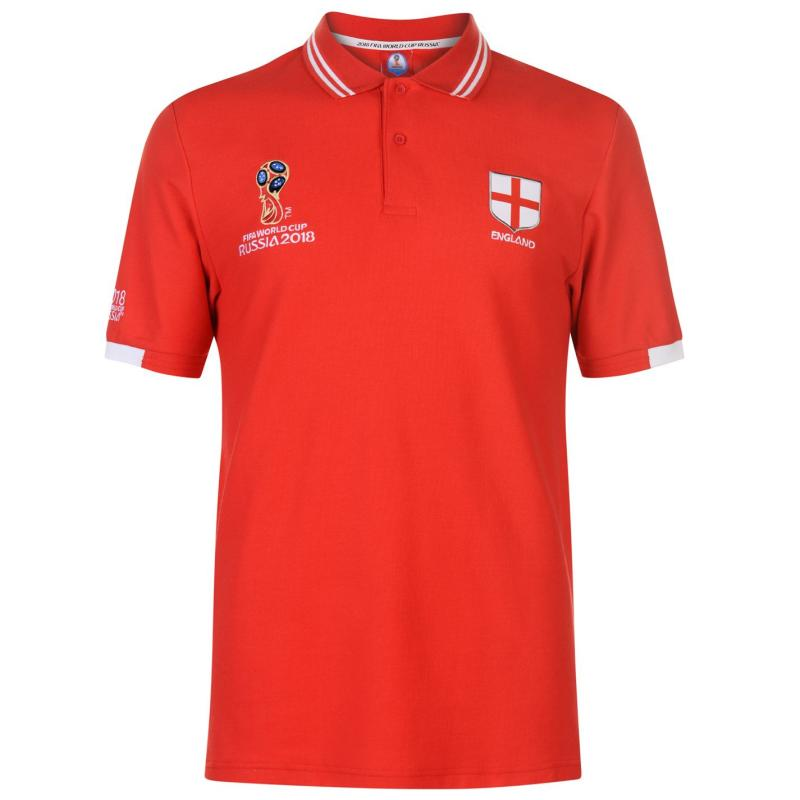 FIFA World Cup Russia 2018 England Polo Mens Red