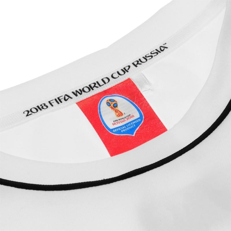 Tričko FIFA World Cup Russia 2018 Germany Poly T Shirt Mens White