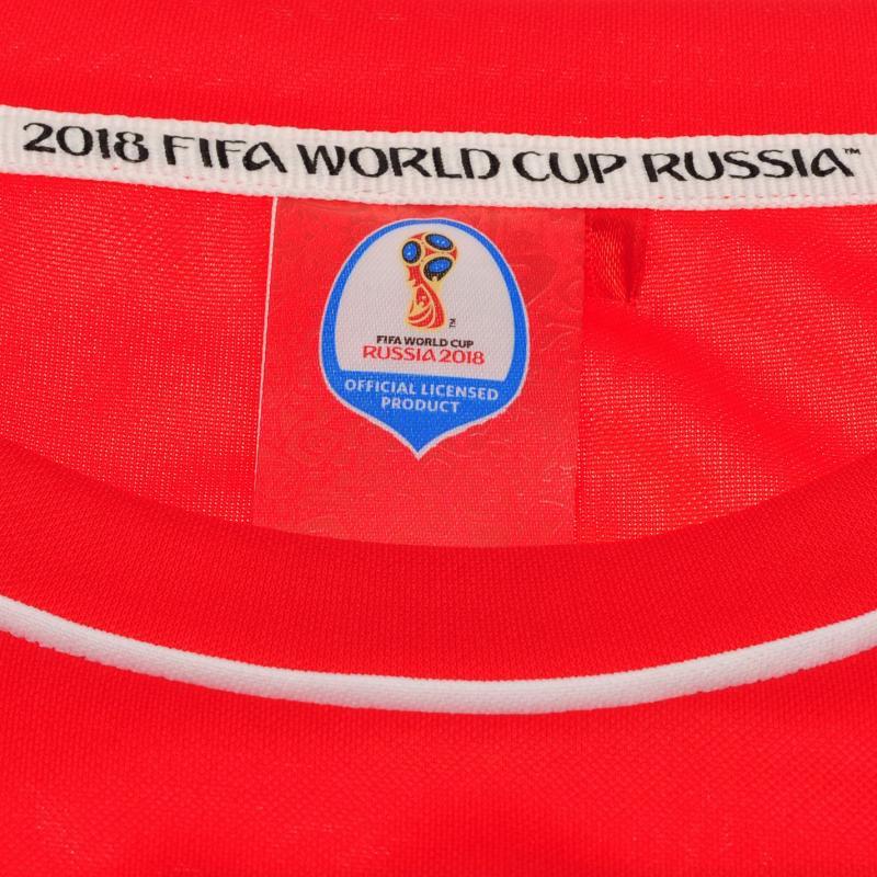 Tričko FIFA World Cup Russia 2018 Poland Poly T Shirt Mens Red