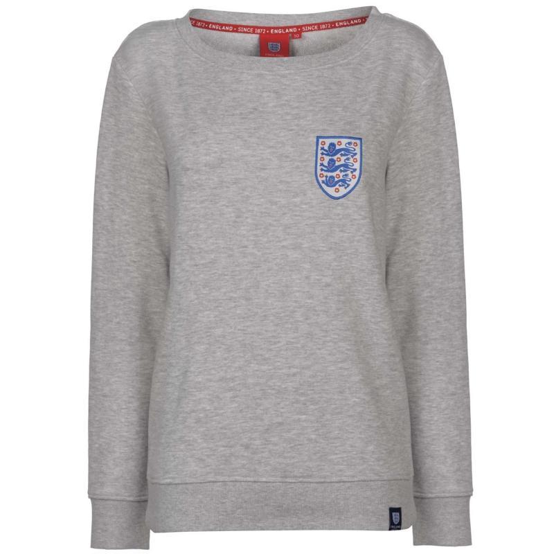 FA England Crew Neck Sweatshirt Ladies Grey